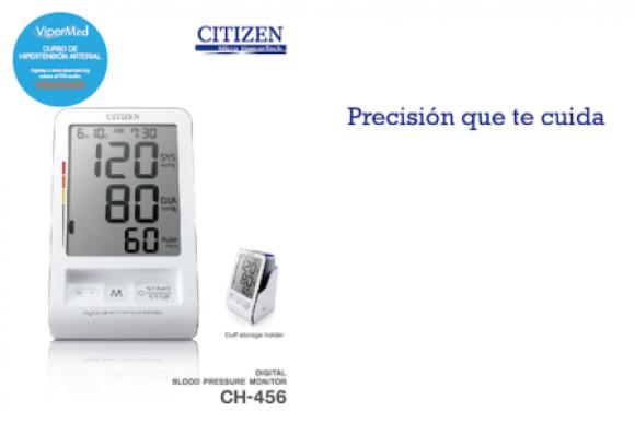 El tensiometro digital CH456, uno de los principales productos de la marca Citizen.