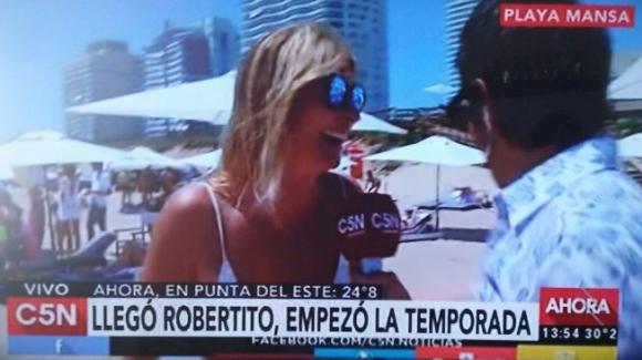 Con Roberto Funes en C5N