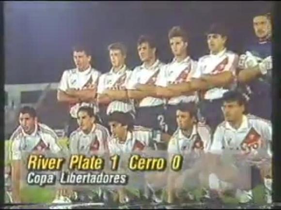 Club Atlético Cerro - Copa Libertadores 1995 -Cerro (Uruguay)0- River Plate (Argentina)1.