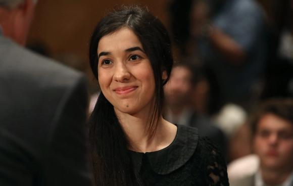 Nadia Murad: embajadora de la ONU y militante de los DD.HH. Foto: AFP