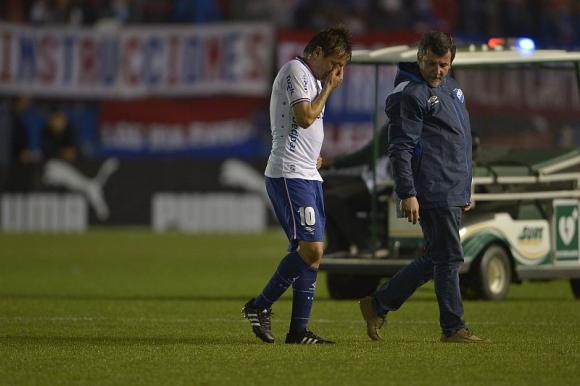La salida de Ligüera por su propio pie. Foto: G. Pérez
