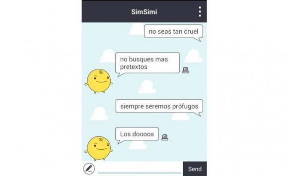 Muchos usuarios juegan con SimSimi a seguir la letra de la canción.