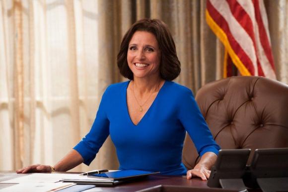 Selina Meyer busca ser la Presidenta de los Estados Unidos por las urnas.