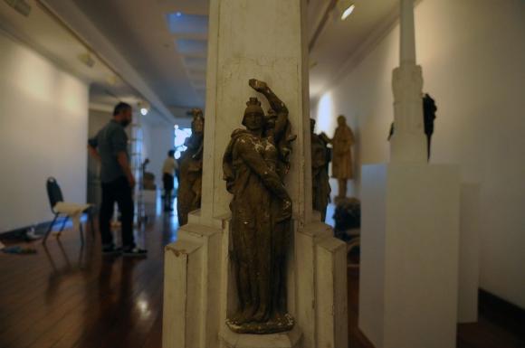 El Obelisco: maqueta de otra de las obras emblemáticas. Foto: F. Ponzetto
