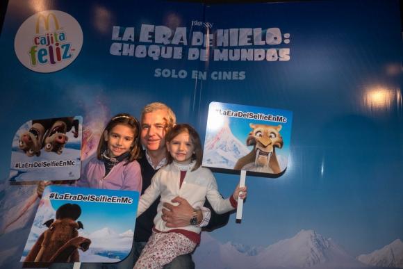 Agustina, Leonardo y Florencia Sarro.