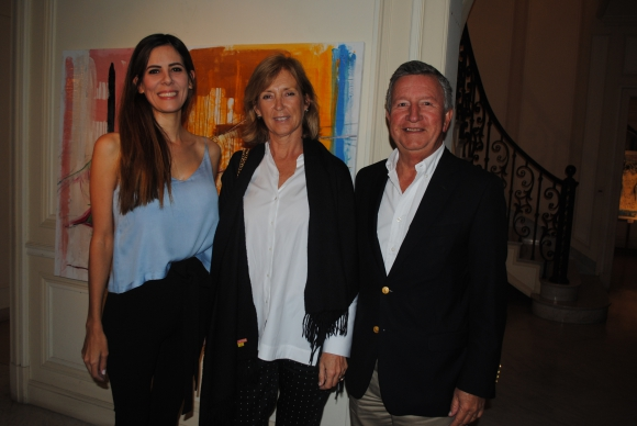 Eugenia Pruzzo,  Cecilia Soler, Luis Eduardo Cardoso.
