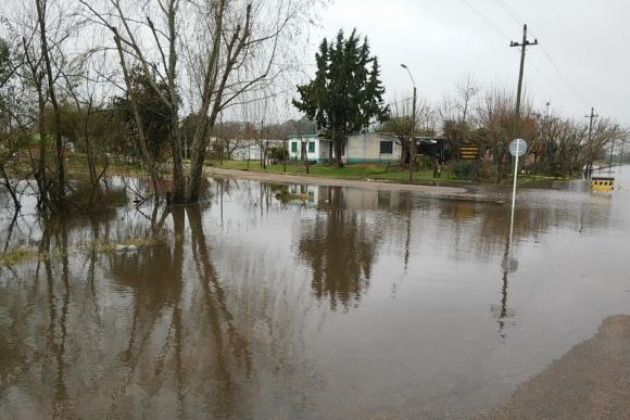 Inundaciones en Melo. Foto: Néstor Araújo.