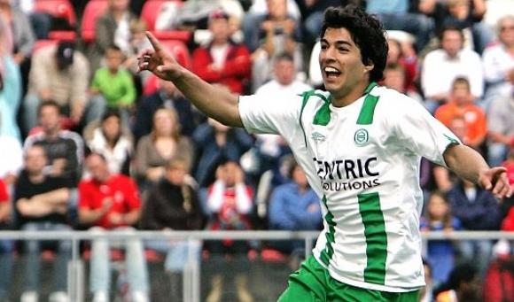 Luis Suárez, en Groningen. Foto: Archivo El País.