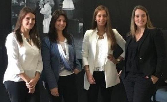 Andrea Varela, Natalia Arocha, Gimena Valladares y Virginia Garda.