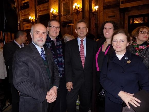 Gaston Gaudin, Embajador de Brasil Hadil Fontes da Rocha, Embajador de Suiza Didier Pfirter, Nina Ben Ami, Embajadora de Canadá Claire Poulin.