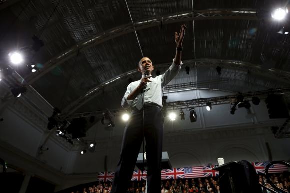 Obama en un discurso para jóvenes británicos. Foto: Reuters
