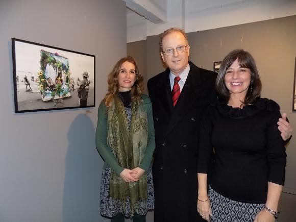 Charo Echecopar, embajador de Perú Augusto Arzubiaga, Irene Cabrera.
