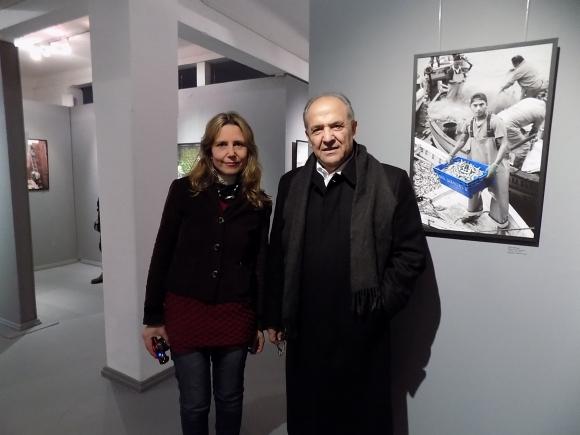 Lucía Ferrari, embajador de Palestina Walid Abdel-Rahim.