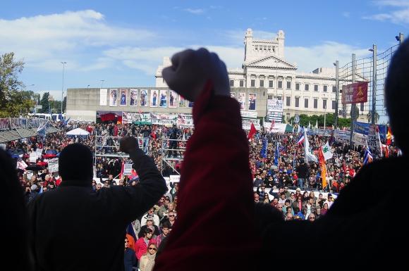 Acto del Pit-Cnt por el Día del Trabajador. Foto: Fernando Ponzetto