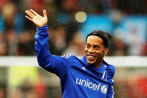 Ronaldinho fue uno de los más aclamados de la cita. Foto: Reuters.