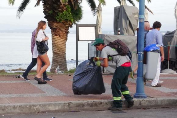 La mañana del primer día del año en Punta del Este. Foto: Ricardo Figueredo