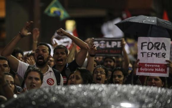 Manifestaciones en Brasil. Foto: Reuters