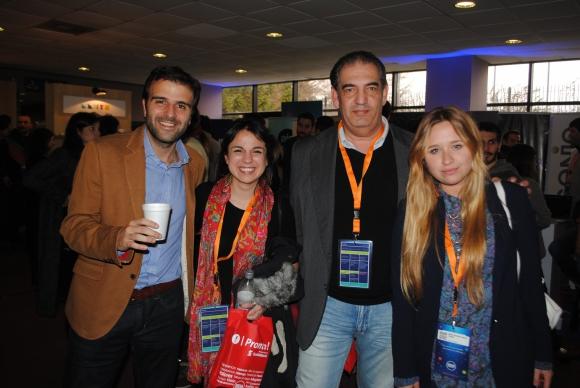Krikor Attarian, Victoria Ortíz, Carlos Berrutti, Victoria Suárez.