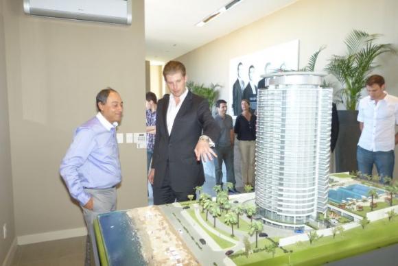 El empresario visitó el showroom donde se construirá la Trump Tower. Foto: Ricardo Figueredo