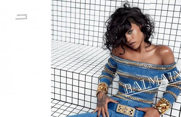 Rihanna. Fue figura de la campaña primavera/verano 2014. Foto: Gentileza Balmain.