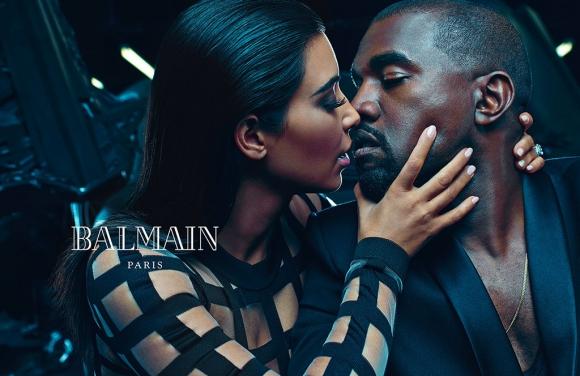 Dúo. Kim Kardashian y Kanye West en la campaña primavera-verano 2015. Foto: Gentileza Balmain.