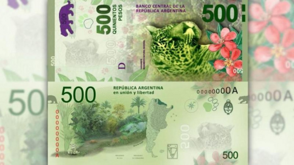 Nuevo billete de $500. Foto Banco Central de la República Argentina