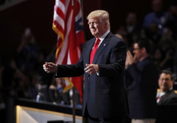 Donald Trump previó a aceptar su candidatura a la presidencia. Foto: Reuters