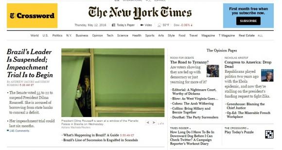 New York Times, Estados Unidos.