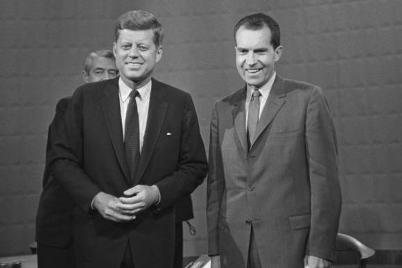 Debate entre Richard Nixon y John F. Kennedy en 1960. Foto: Archivo El País.