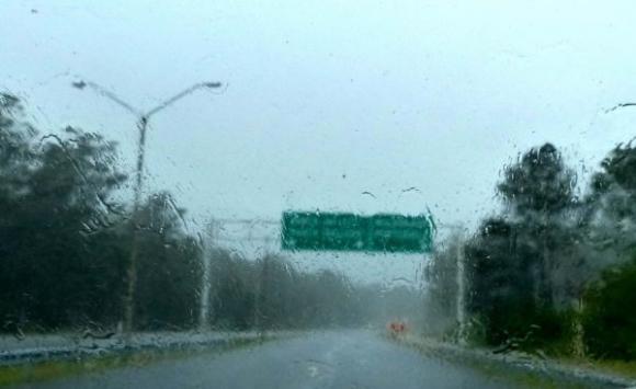Fuertes precipitaciones en Maldonado