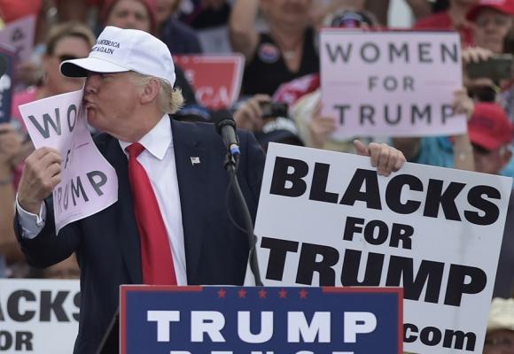 Donald Trump lleva la delantera en Iowa y Georgia. Foto: AFP