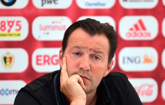 Marc Wilmots, seleccionador de Bélgica. Foto: AFP.