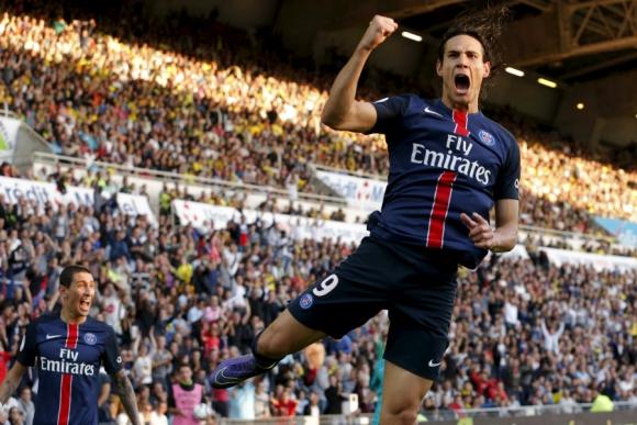 Edinson Cavani anotó un nuevo gol en la temporada para el PSG. Foto: Reuters