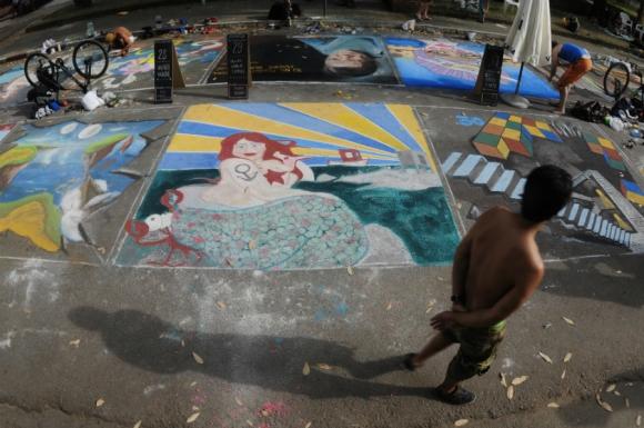 Los artistas plasmaron sus obras en Atlántida. Foto: Fernando Ponzetto