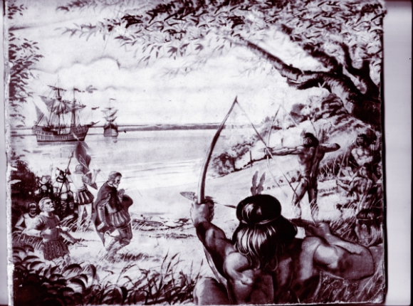 Una antigua ilustración recrea el momento de la muerte de Solís.