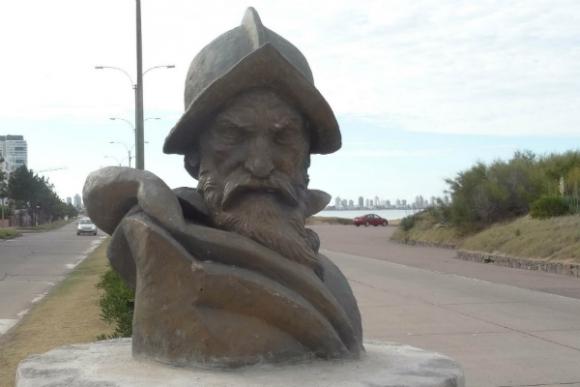 Busto de Solís en Punta del Este (Foto: Ricardo Figueredo)