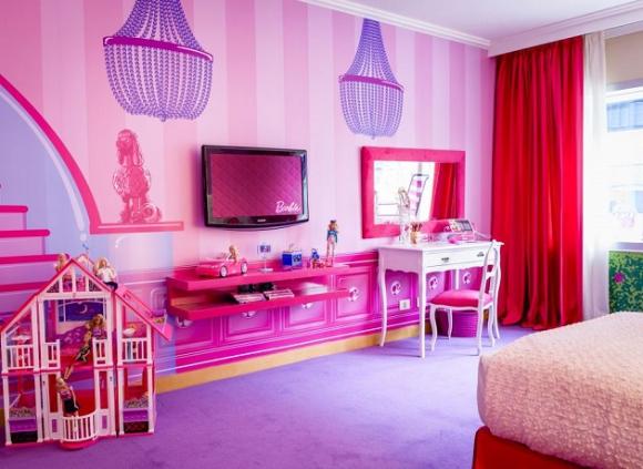 Barbie Room. La cadena Hilton ofrece a las niñas vivir la experiencia de convertirse en el famoso personaje durante su estadía. (Foto: Google Images)