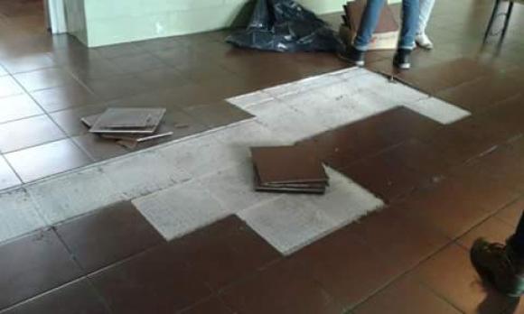 Ocupan el liceo 53 reclamando mejoras edilicias. Foto: Ades Montevideo