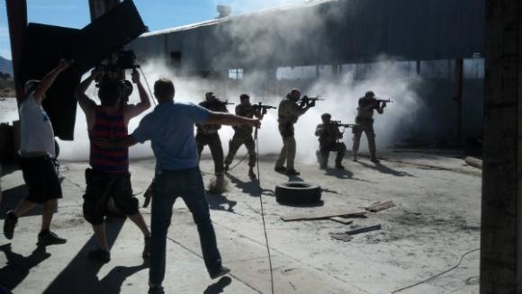 Filmando acción