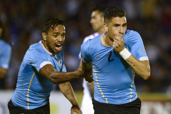 José María Giménez ha convertido dos goles en la selección uruguaya. Foto: AFP.