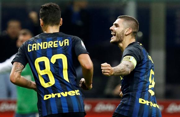 El festejo de Mauro Icardi tras uno de sus goles ante el Torino. Foto: Reuters