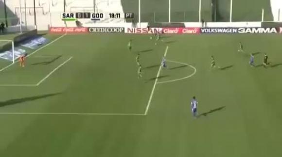 Sarmiento de Junín vs Godoy Cruz (2-2) Primera División 2016 - todos los goles resumen