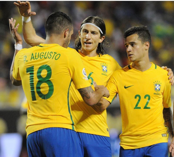 Brasil goleó a Haití por 7-1. Foto: EFE