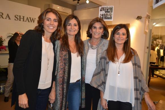 Inés y Florencia Arrosa, Margara Shaw, Carolina Arrosa.