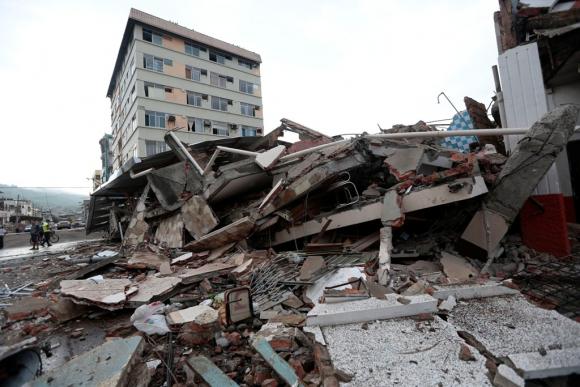 Terremoto en Ecuador. Foto: AFP
