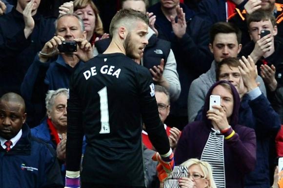 David de Gea, golero del Manchester United. Foto: EFE