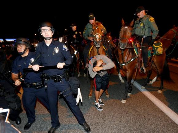Protestas contra Donald Trump. Foto: AFP