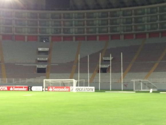 Peñarol reconoció el Estadio Nacional de Lima. Foto: @angel_aste