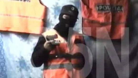 Banda de delincuentes amenaza a la Policía. Foto: Captura de pantalla