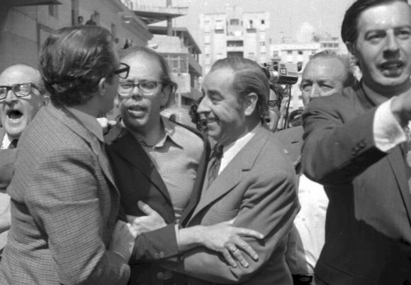Detención de Jorge Batlle el 27 octubre de 1972. Foto: Archivo El PAÍS